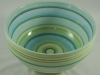 Teal and Green Banding Wheel Bowl