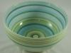 Teal and Green Banding Wheel Bowl