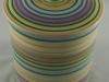 Multicolor Banding Wheel Cookie Jar