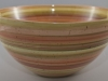 Large Western Colored Banding Wheel Bowl