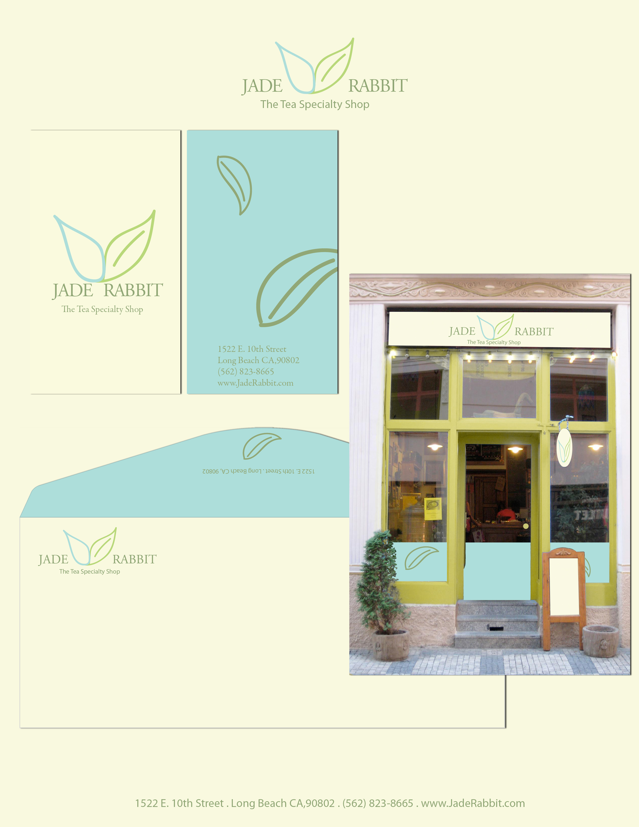 Jade Rabbit - Collateral and Storefront Design