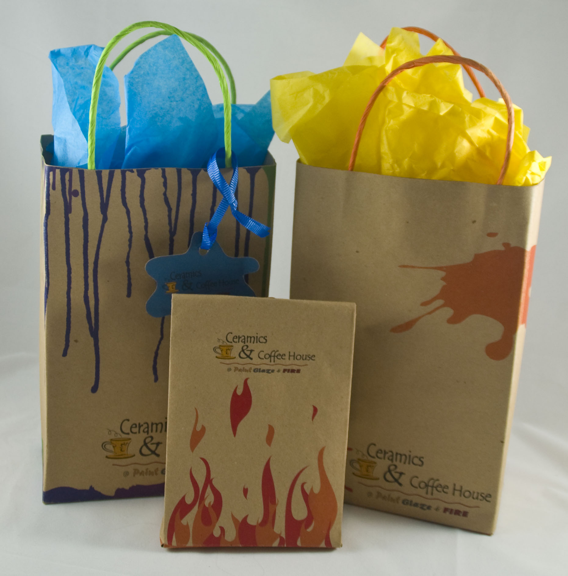Paint Glaze and Fire - Packaging design